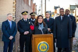 Maria Quiñones-Sánchez speaks on the city's initiative to install 15 surveillance cameras to stop illegal dumping.