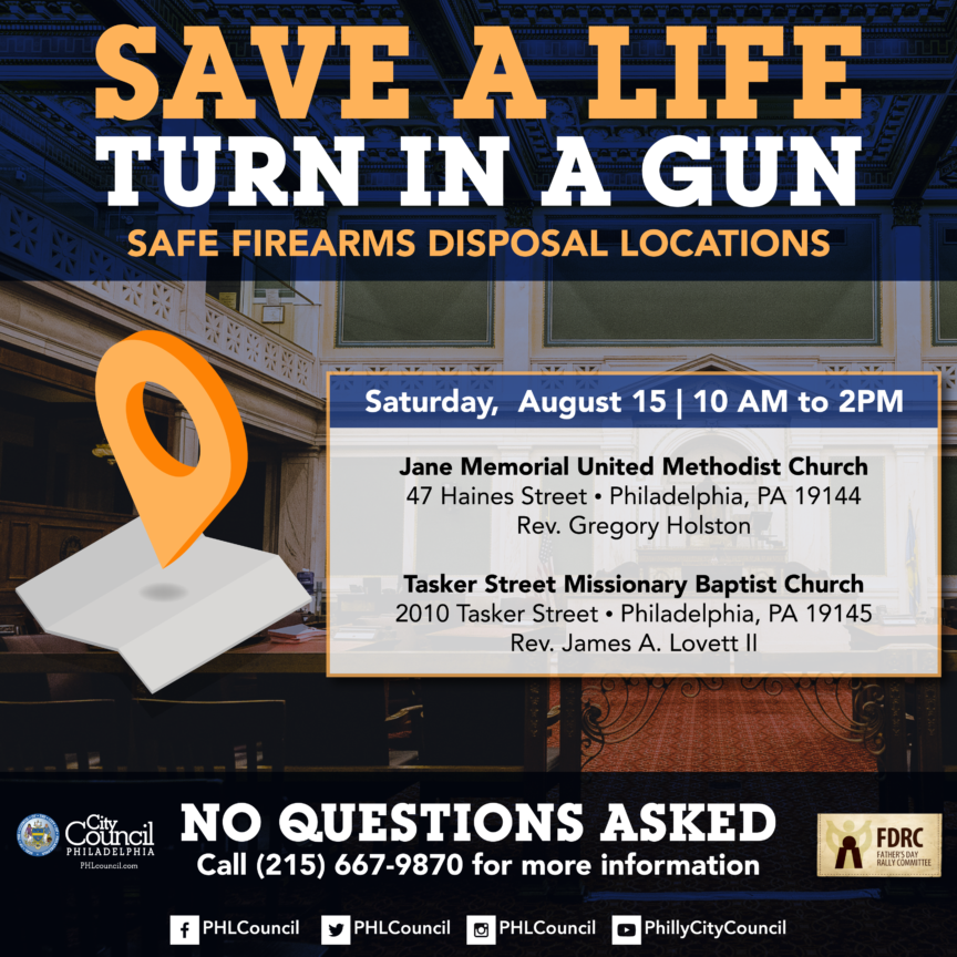 Save a life, turn in a gun list of disposal locations